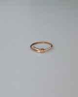 Rose Gold Tie the Knot Thin Ring in Sterling Silver on kellinsilver.com