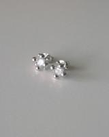 CZ Stepanie Stud Earrings in Sterling Silver on kellinsilver.com