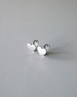 Sterling Silver Small Heart Snap Earrings on kellinsilver.com