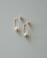 Sterling Silver Pearl Clip Earrings Rose Gold on kellinsilver.com