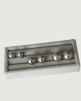 Sterling Silver 3D Circle Hinge Earrings on kellinsilver.com