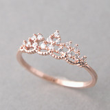 CZ Princess Tiara Ring Rose Gold from kellinsilver.com