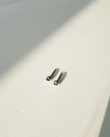 Simple 4mm Round Black CZ Bezel Stud Earrings Sterling Silver on kellinsilver.com