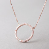 Swarovski Rose Gold Outline Circle Necklace Sterling Silver FROM KELLINSILVER.COM