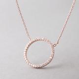 Swarovski Rose Gold Outline Circle Necklace Sterling Silver FROM KELLINSILVER.COM