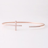 Swarovski Sideways Cross Cuff  Rose Gold Bracelet from kellinsilver.com