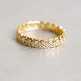 CZ Heart Eternity Band Ring Gold from kellinsilver.com