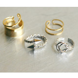 Gold Hardcore Rings Set of 4 from kellinsilver.com