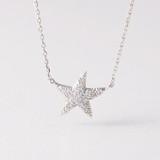 Swarovski White Gold Starfish Necklace Sterling Silver from kellinsilver.com