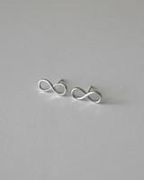 Sterling Silver Infinity Stud Earrings on kellinsilver.com