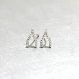 Swarovski White Gold Small Wishbone Studs Earrings from kellinsilver.com