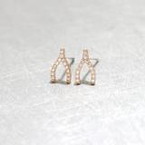 Swarovski Rose Gold Small Wishbone Studs Earrings from kellinsilver.com