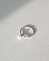 Sterling Silver 4mm Tiny Shell Pearl Solitaire Ring from kellinsilver.com