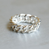Chunky Chain Ring Sterling Silver from kellinsilver.com