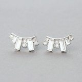 Crystal Baguette Stud Earrings from kellinsilver.com