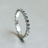 Black CZ Eternity Band Ring Sterling Silver from kellinsilver.com