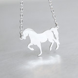 Sterling Silver Horse Necklace from kellinsilver.com
