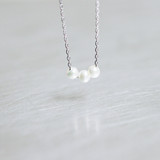 Three Freshwater Pearl Necklace Sterling Silver from kellinsilver.com