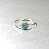 Pave Turquoise Circle Ring Sterling Silver from kellinsilver.com