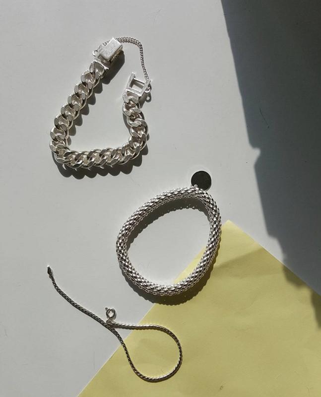 Herringbone Wire Bracelet Sterling Silver from kellinsilver.com