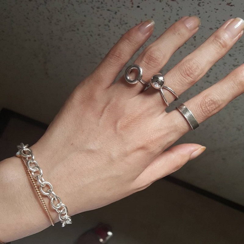 Sterling Silver Oval Donuts Ring from kellinsilver.com