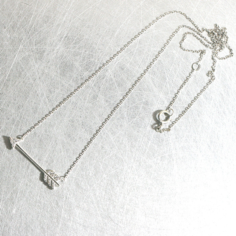 CZ Arrow Necklace Sterling Silver from kellinsilver.com