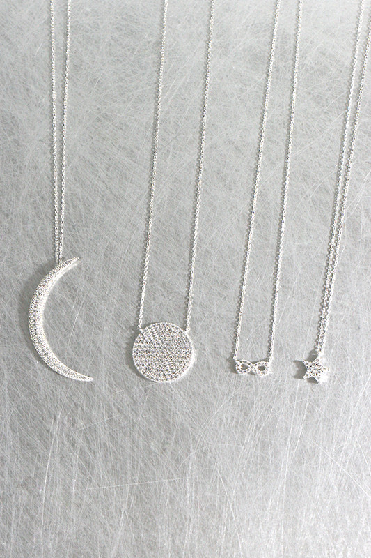 Swarovski White Gold Tiny Infinity Necklace Sterling Silver at kellinsilver.com