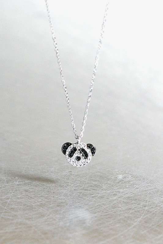 Swarovski Panda Necklace Sterling Silver from kellinsilver.com