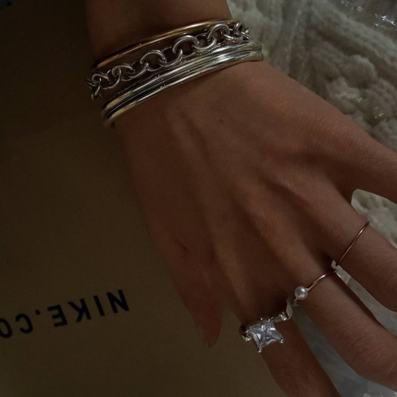 3mm Bold Simple Cuff Bracelet Sterling Silver from kellinsilver.com