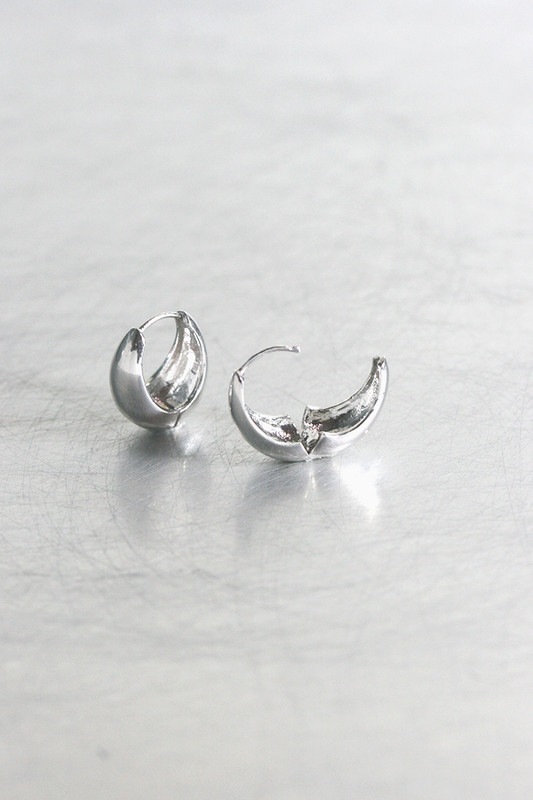 Sterling Silver Hinge Teardrop Earrings Mini no2 from kellinsilver.com