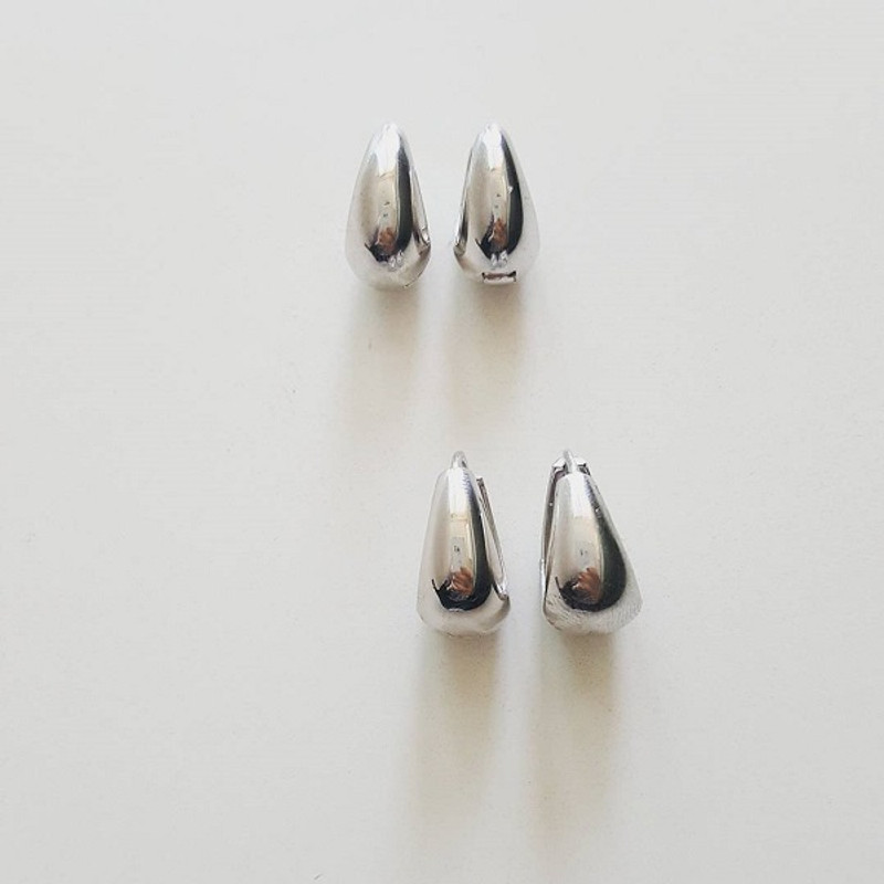 Sterling Silver Hinge Teardrop Earrings Mini no2 from kellinsilver.com