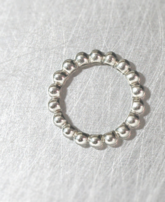 White Gold Perlee Full Eternity Ring Sterling Silver from kellinsilver.com