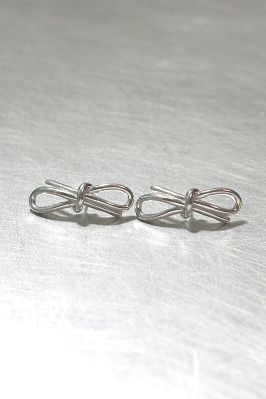 Sterling Silver Bold Promise Bow Earrings from kellinsilver.com