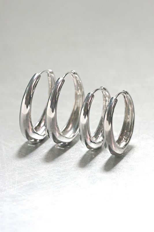 left 30mm, right 25mm - sterling Silver Hinge Oval Hoop Earrings 30mm from kellinsilver.com