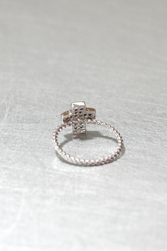 CZ Cross Ring Sterling Silver from kellinsilver.com