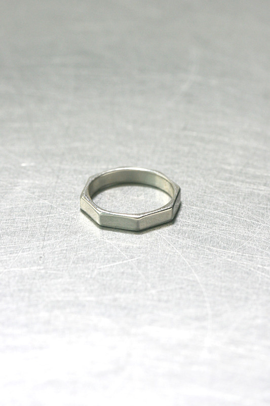 Octagon Sterling Silver Pinky Ring on kellinsilver.com