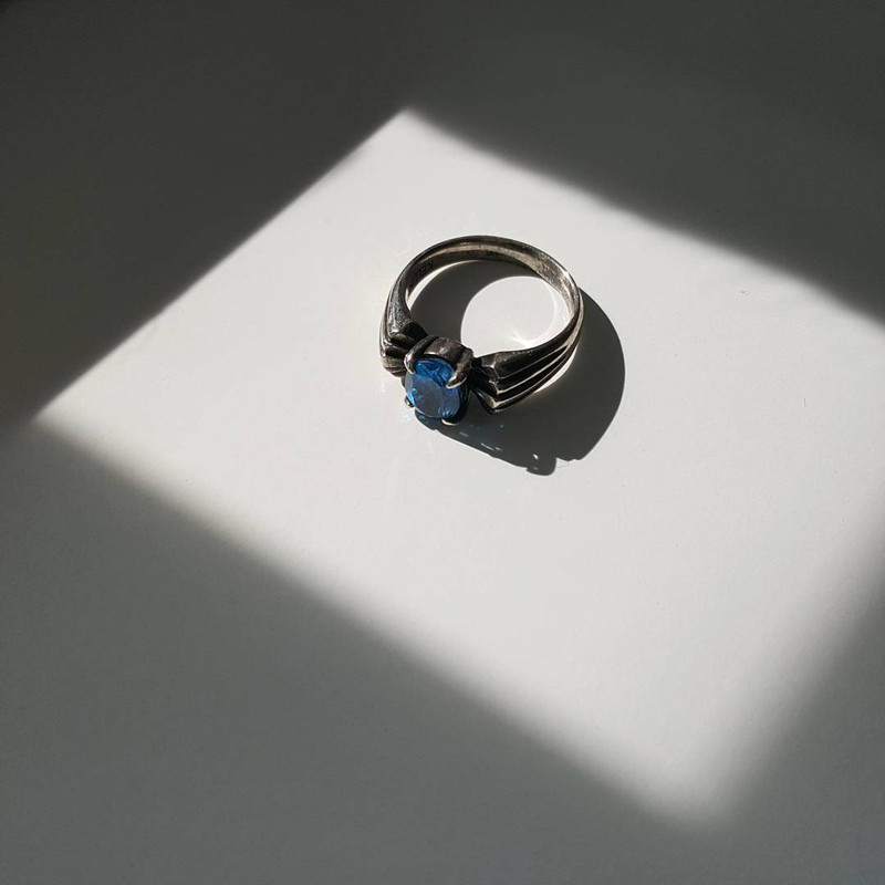 Blue Topaz Oxidized Silver Ring from kellinsilver.com