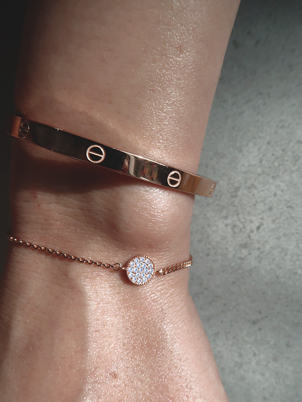 Opal Circle Mix Chain Bracelet Rose Gold from kellinsilver.com
