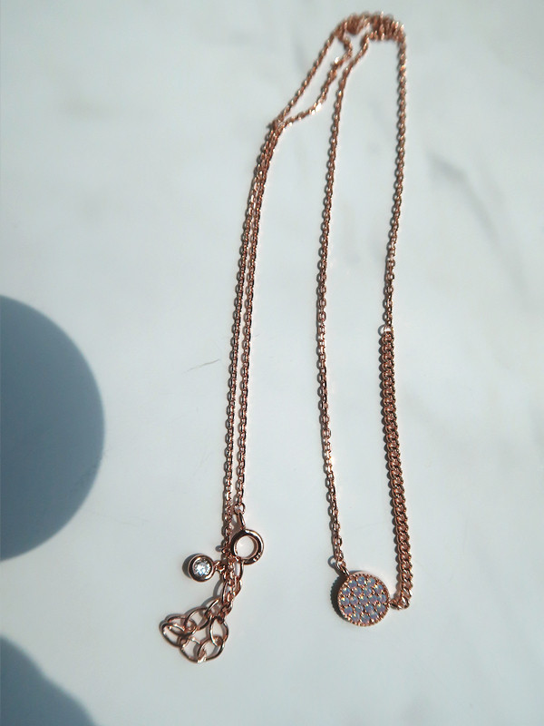 Opal Circle Mix Chain Necklace Rose Gold from kellinsilver.com