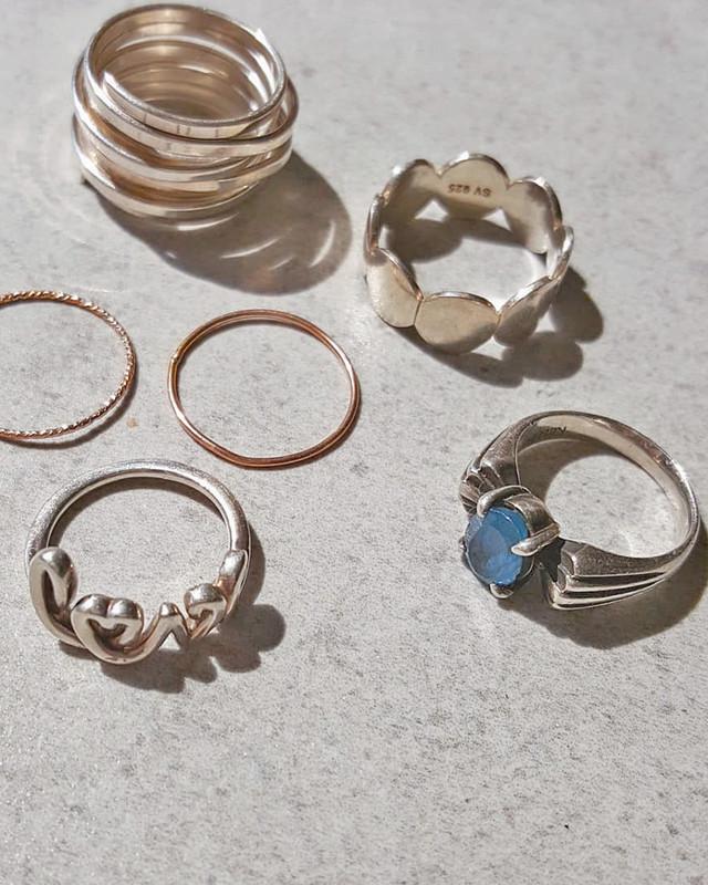 Sterling Silver Love Script Ring on kellinsilver.com