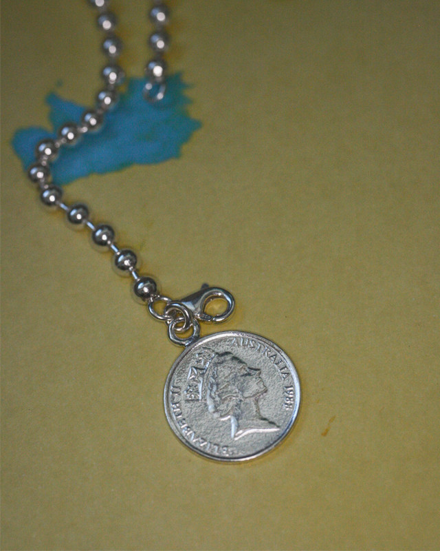 5 cent Coin Elizabeth Ball Bracelet Sterling Silver from kellinsilver.com