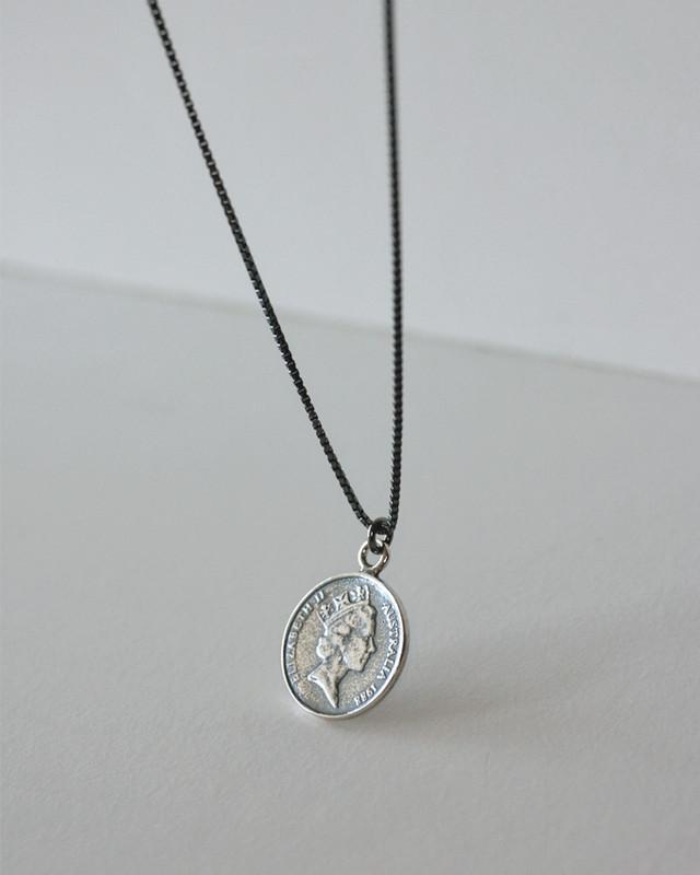 AU 5 Cent Elizabeth Coin Long Necklace Sterling Silver from kellinsilver.com