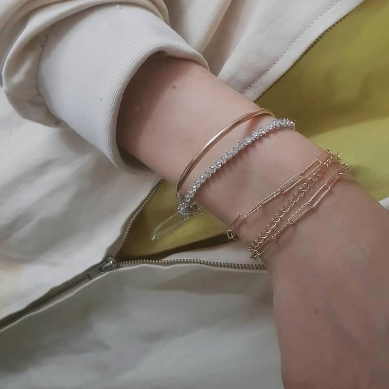 CZ Marquis Tennis Chain Bracelet Sterling Silver from kellinsilver.com