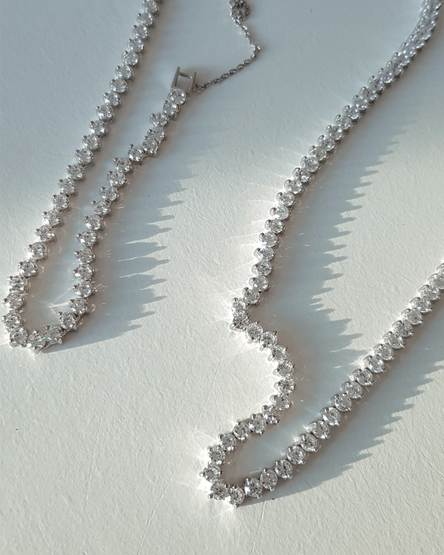 CZ Marquis Tennis Chain Bracelet Sterling Silver from kellinsilver.com