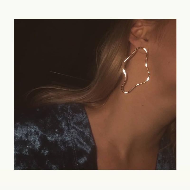 Geometric Drop Earrings from kellinsilver.com
