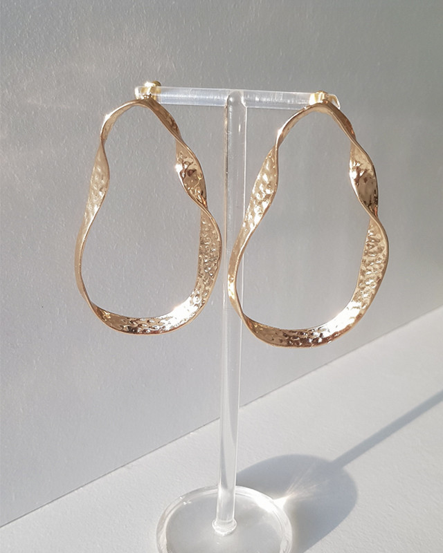 Hammered Geometric Drop Earrings from kellinsilver.com