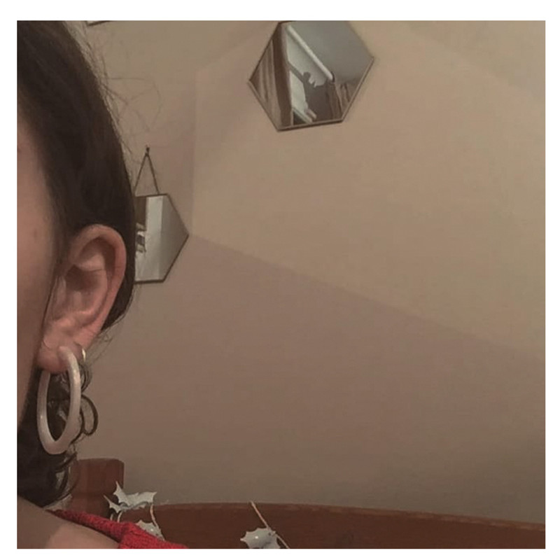40mm Thin Simple White Acrylic Hoop Earrings from kellinsilver.com