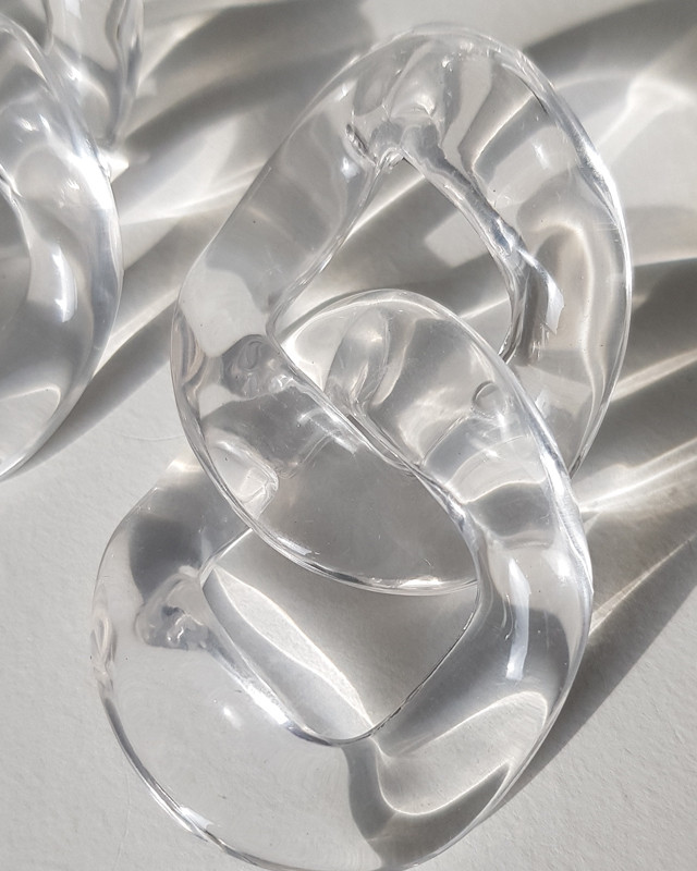 Clear Acrylic Cable Earrings from kellinsilver.com