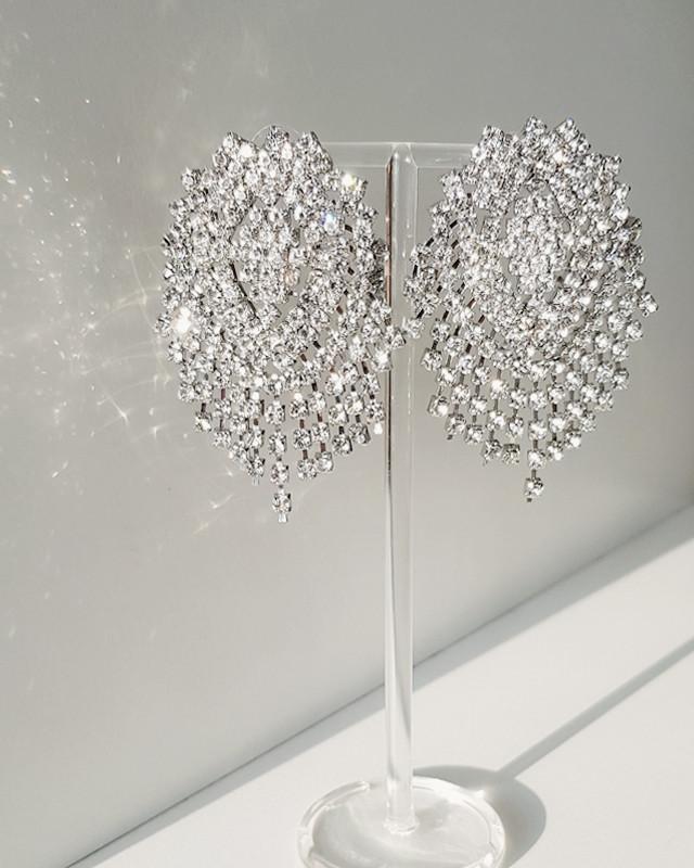 Sophia Crystal Earrings from kellinsilver.com