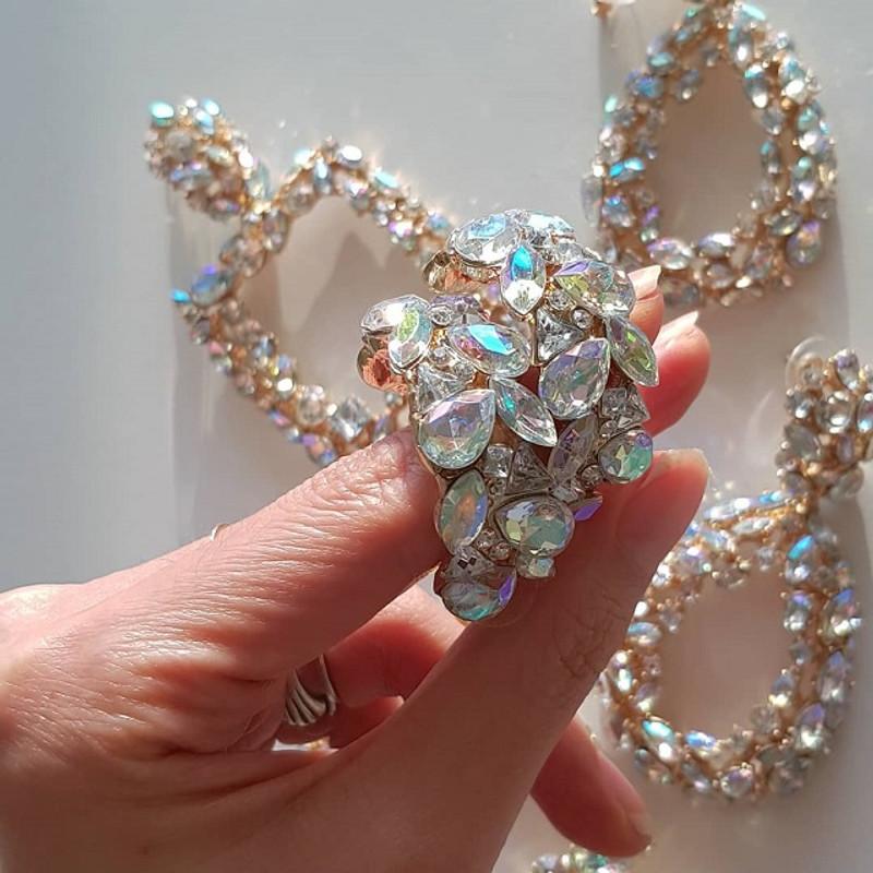 Jewel Hoop Earrings from kellinsilver.com